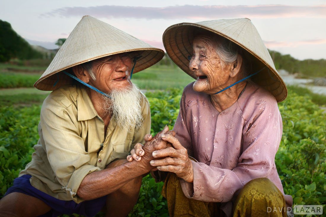 Old Vietnam couple married 70 years near Hoi An