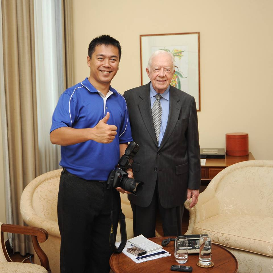 Boothee Thaik Htun and president Jimmy Carter
