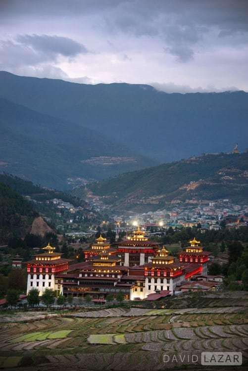 Bhutan rice and mountains