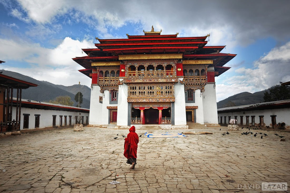 Monks in Bhutan taken on David Lazar photo tour