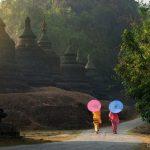 Umbrellas at Mrauk U, Myanmar