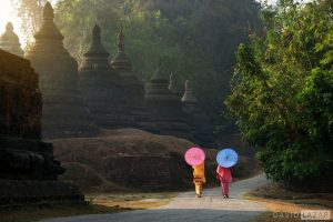 Umbrellas at Mrauk U, Myanmar