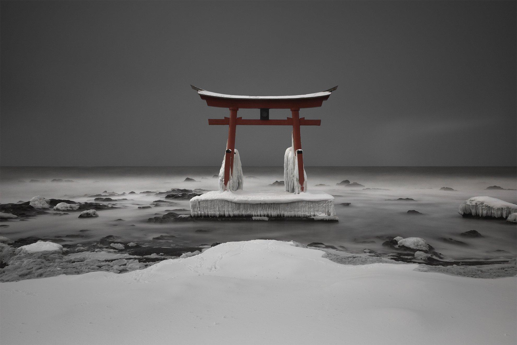 Torii Gate on Hokkaido by Francis Ansing on Japan photo tour