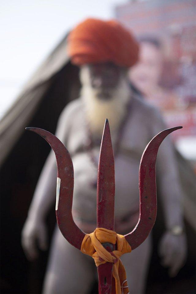A Naga sadhu trishul, taken while photographing the Kumbh Mela