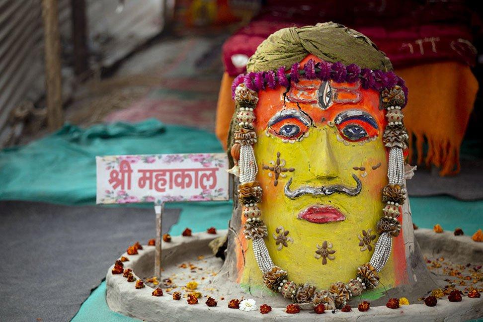 An unusual Shiva lingam shot while Photographing the Kumbh Mela
