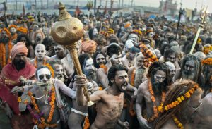 Naga Babas at the 2019 Kumbh Mela in India