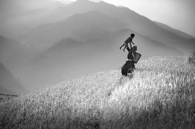 Joy in the Myanmar hills taken on photo tur by Kyaw Kyaw Winn