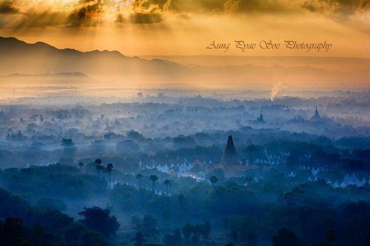 Sunrise over Mandalay taken on Burma photo tour workshop