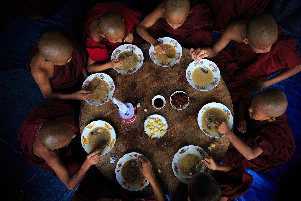 Orphan-monks in Bagan during Burma photo tour