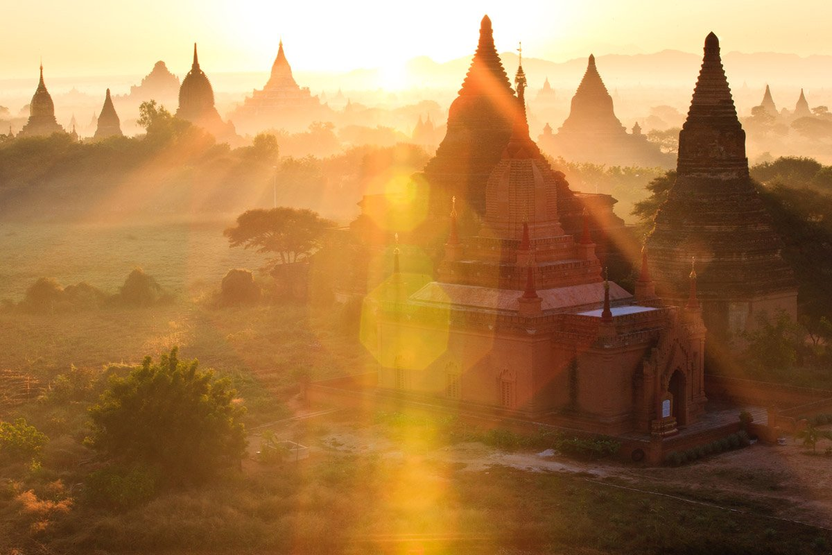 Bagan temple image published by National Geographic