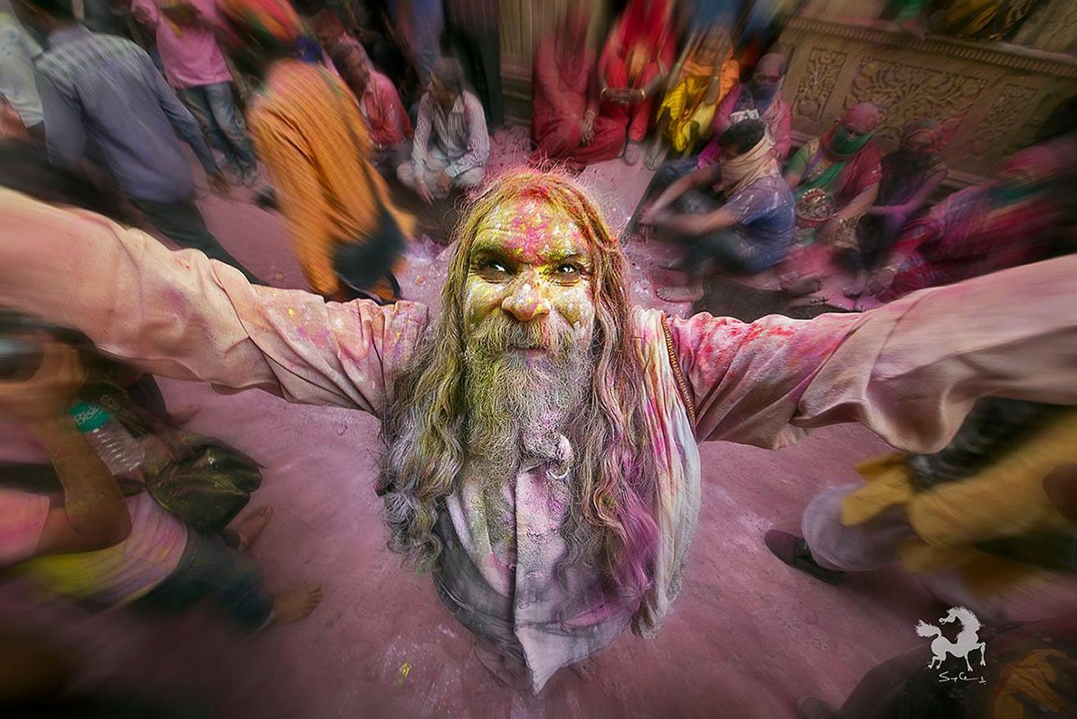 Holi festival in Barsana, India