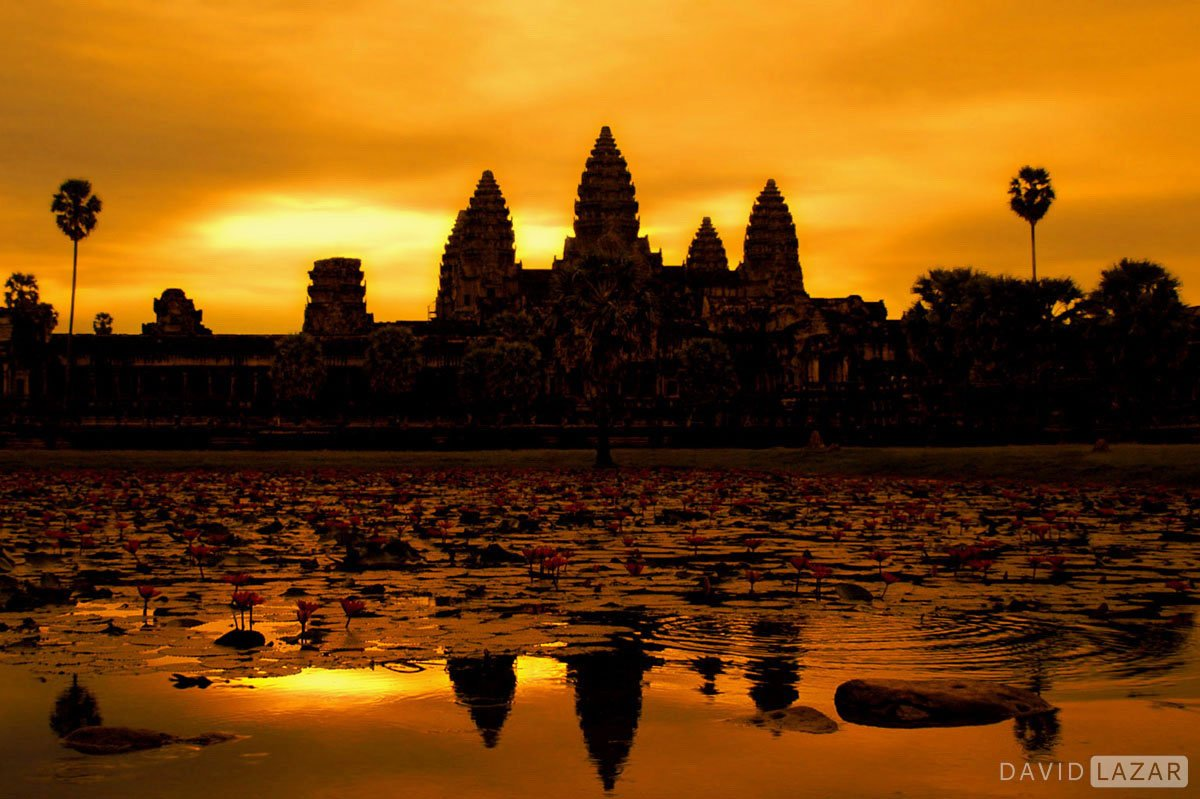 Awesome sunrise at Angkor taken on Southeast Asia photo tour