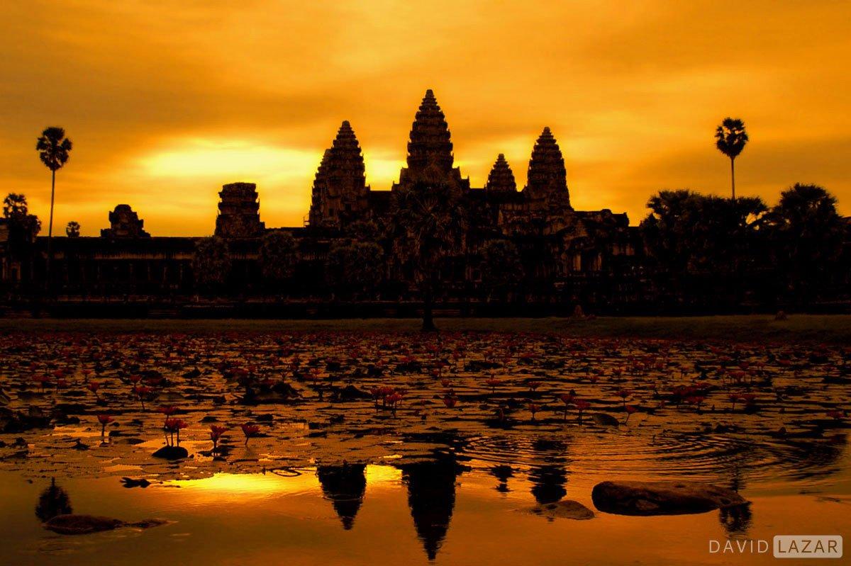 Awesome sunrise at Angkor taken on Southeast Asia photo tour