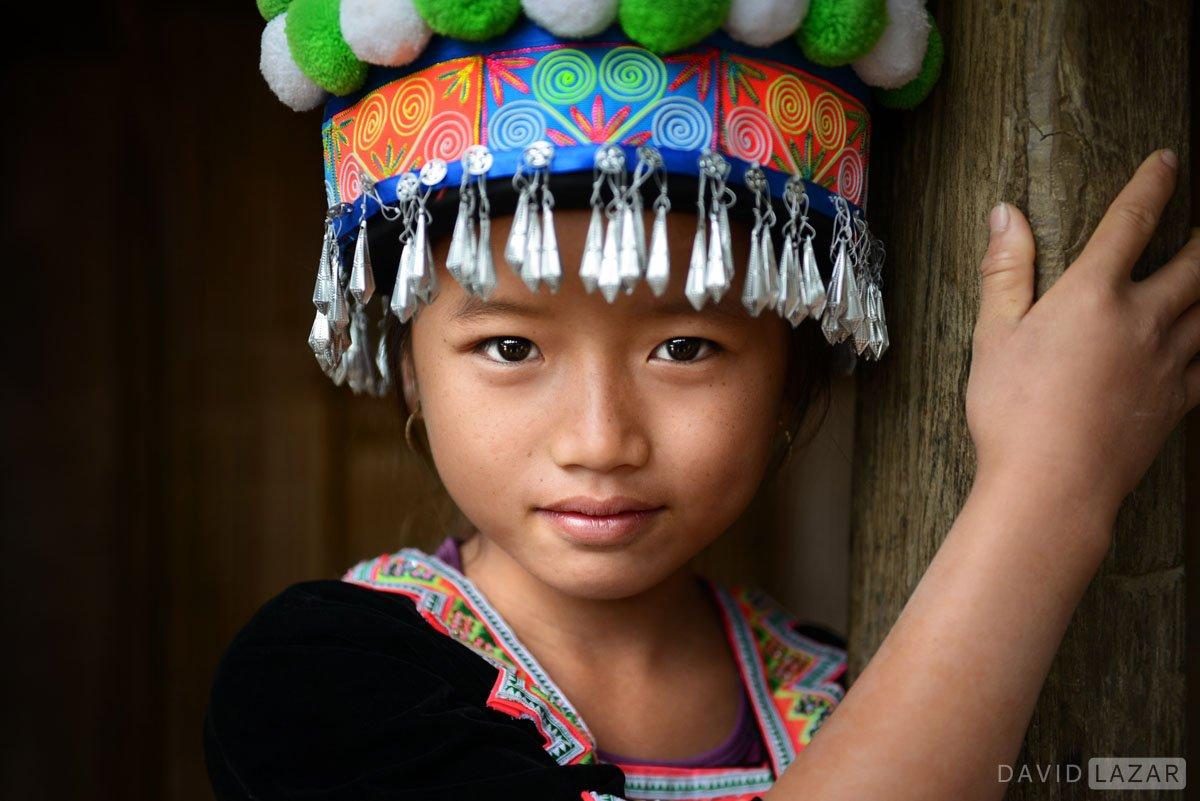 Lao tribal girl outside of Luang Prabang, Laos.
