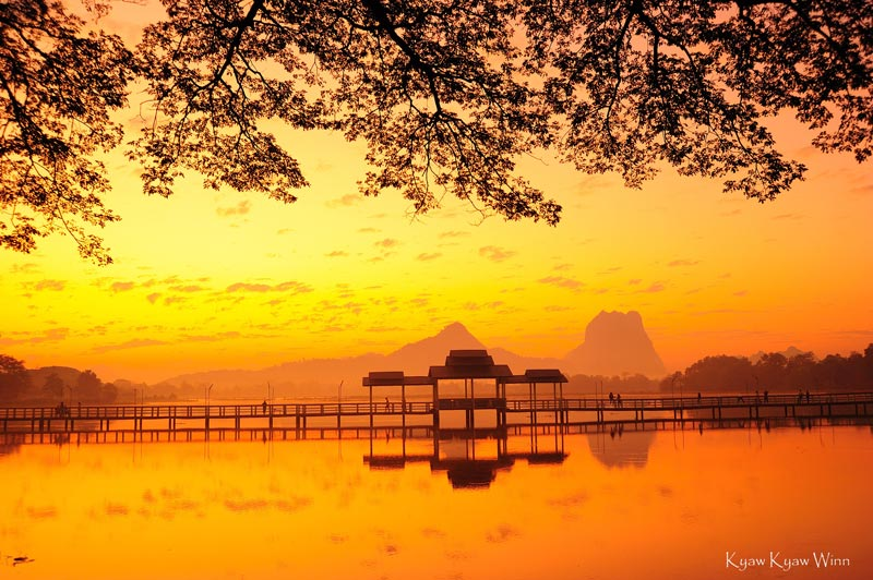 Sunrise in Hpa An at Myanmar-photo-workshop