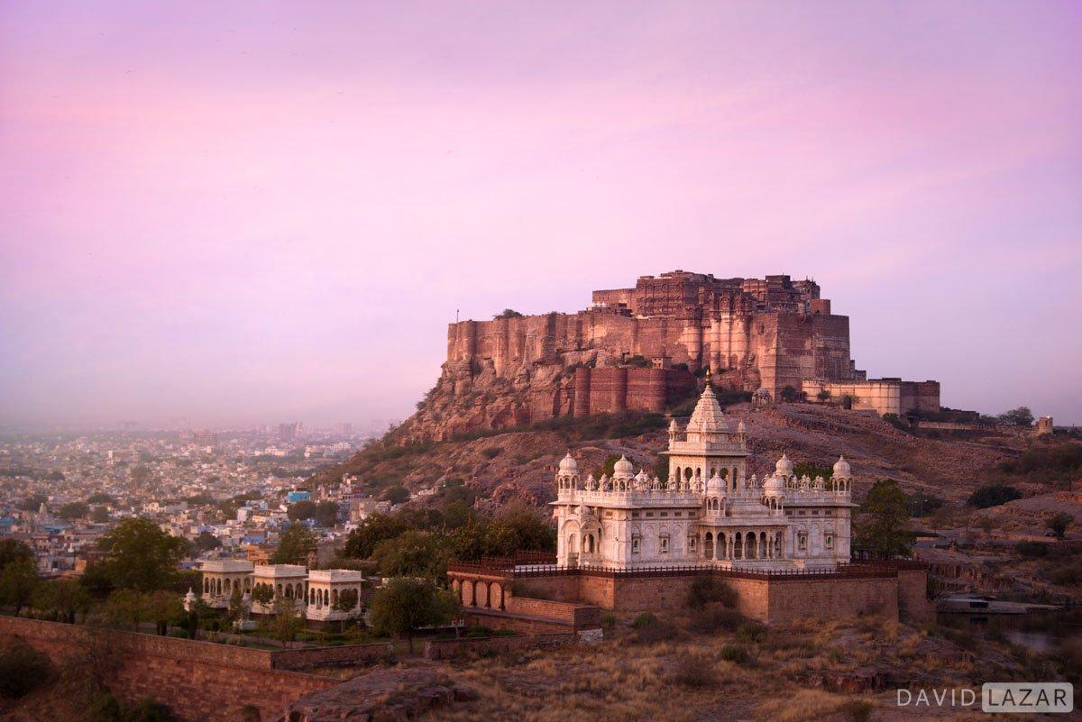 Rajasthan India photo tour fort image at sunrise in Jodhpur