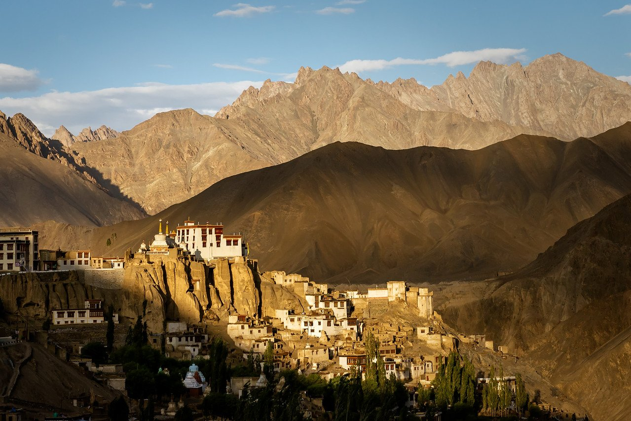 Sunset at Thiksey Gompa Monastery in Leh, Ladakh