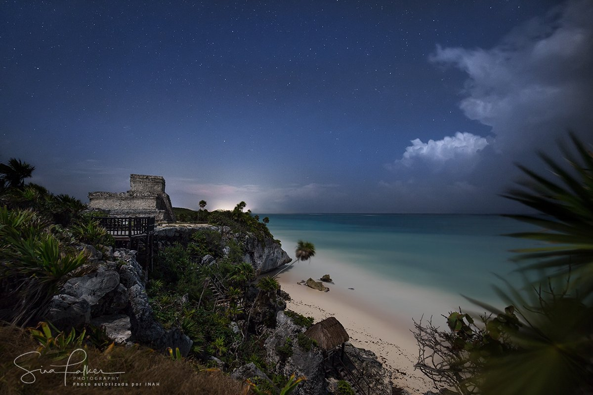 ruins-tulum-night-photoraphy-stars-mexico-