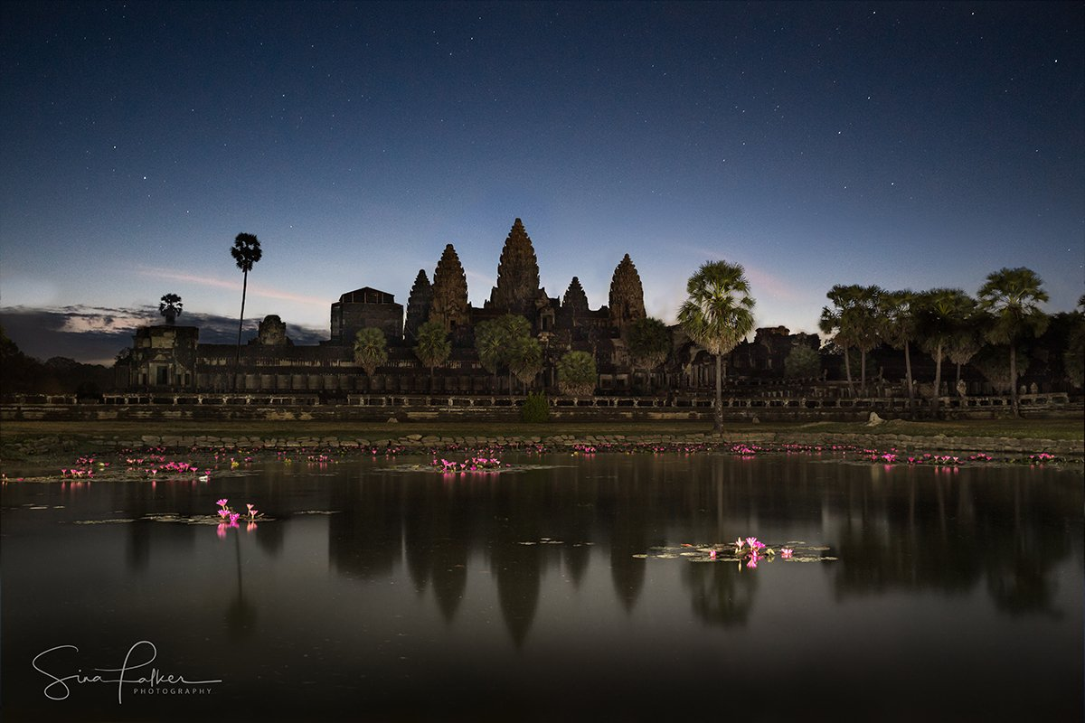 Angkor Wat under the stars on Cambodia photo tour