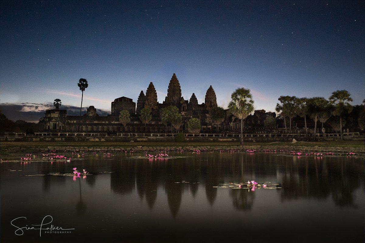 Angkor Wat under the stars on Cambodia photo tour