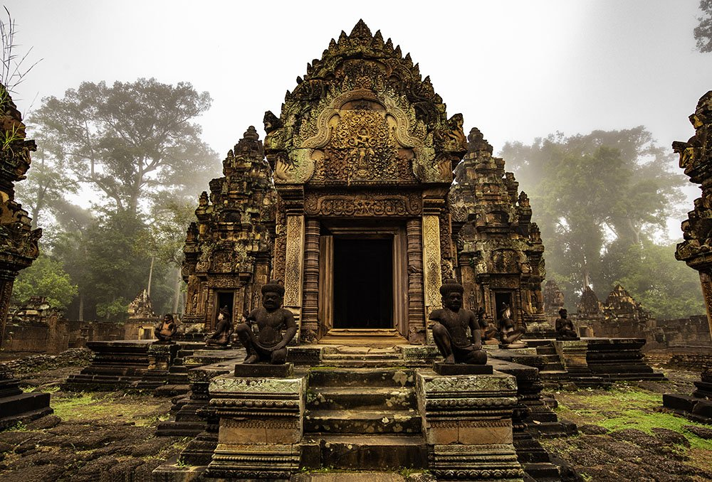 Beautiful Banteay Srey Khmer temple taken on Cambodia photo tour