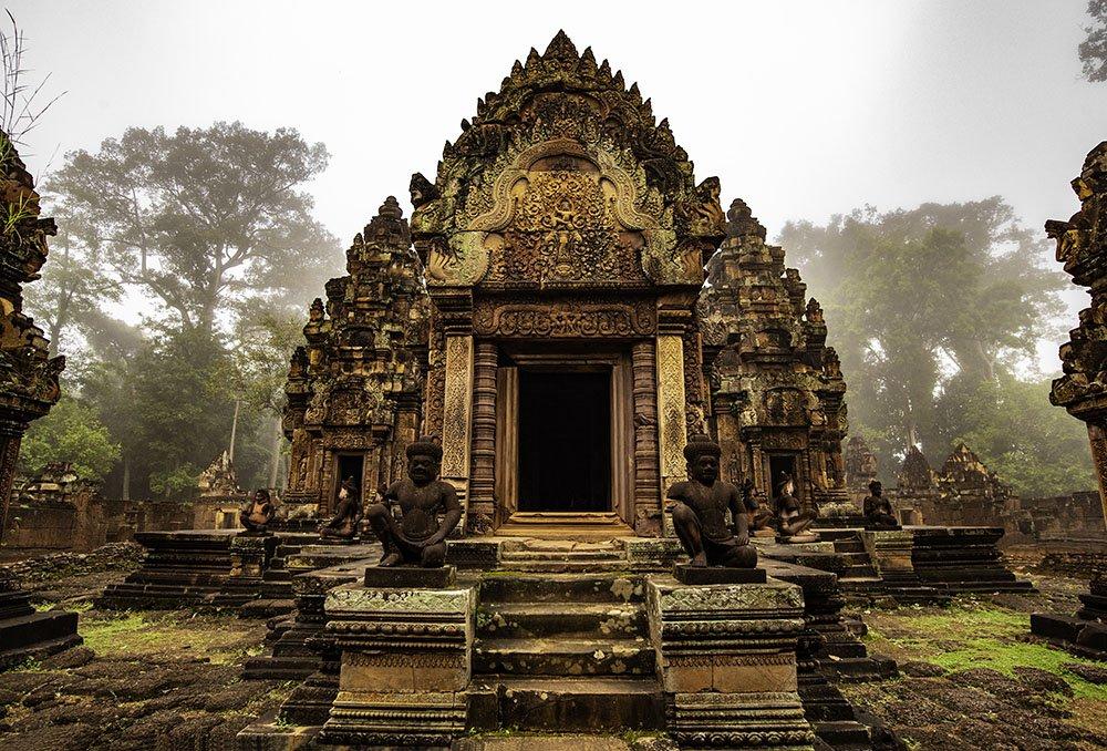 Beautiful Banteay Srey Khmer temple taken on Cambodia photo tour