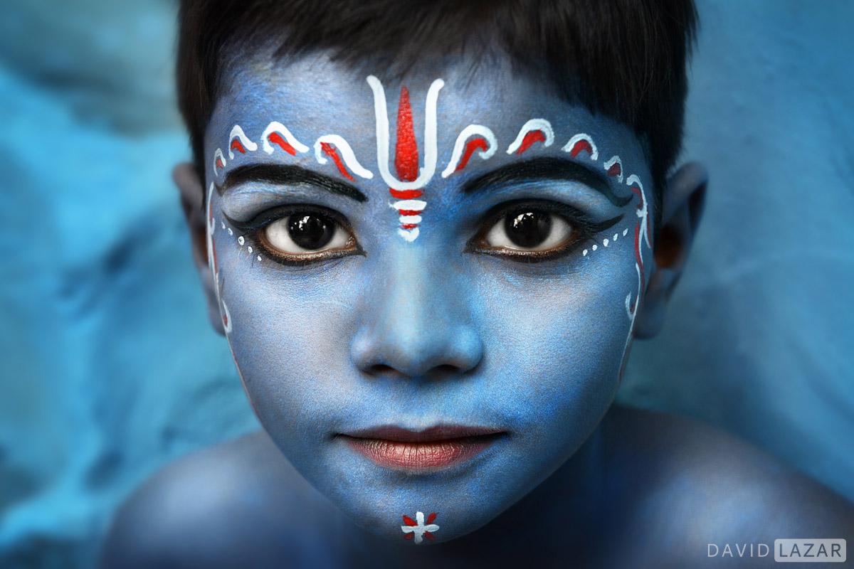 Blue Krishna boy taken on India photo tour worshop